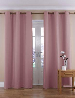 Dusky pink curtains
