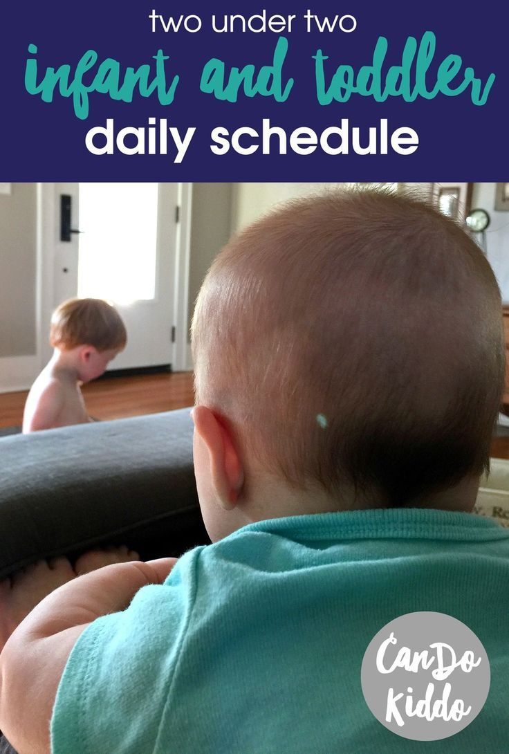 2 under 2: Baby and Toddler Daily Schedule for SAHM / WAHM. http://www.CanDoKiddo.com