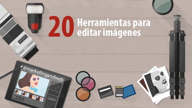 20 Programas y herramientas para retocar fotos e imágenes http://www.marketingandweb.es/marketing/programas-editar-imagenes-retocar-fotos/?utm_campaign=crowdfire&utm_content=crowdfire&utm_medium=social&utm_source=pinterest