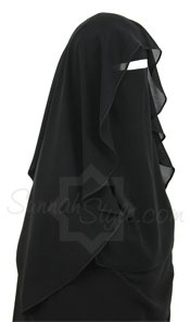 Tie Back Butterfly Niqab (Black) by Sunnah Style - www.sunnahstyle.com