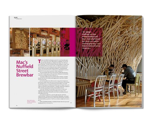 Magazine editorial design - Eye Magazine.