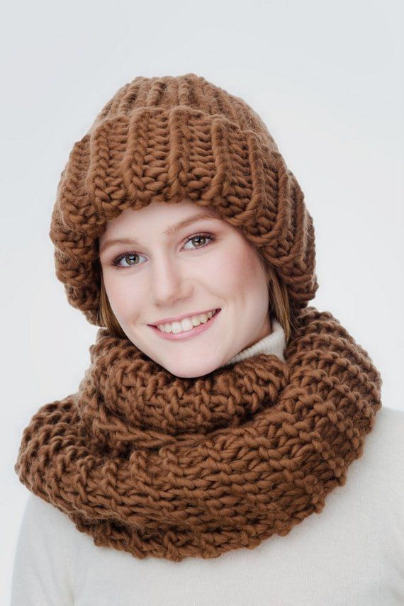 ce193d2851f Chunky Wool Hat Scarf Combo