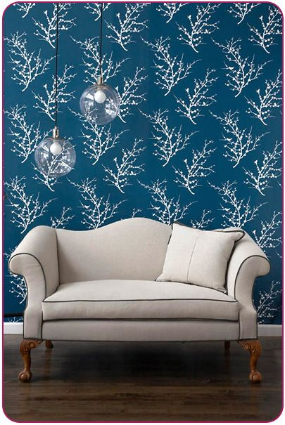 Totally dig'n this wallpaper...AND it's temporary so could be used in a rental...too bad it's beyond my price range!