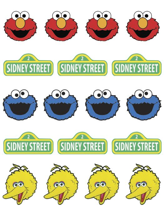 Sesame Street printable's