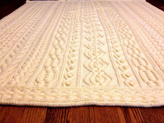 Modèle de tricot : Twisty celtique Aran Afghan, pêcheur, câbles