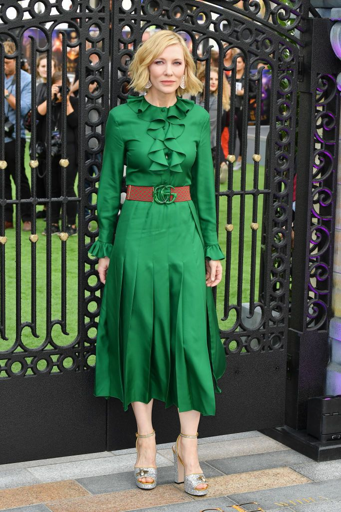 c3e8fde42 Cate Blanchett In Gucci – 'The House With The Clock In Its Walls' World  Premiere