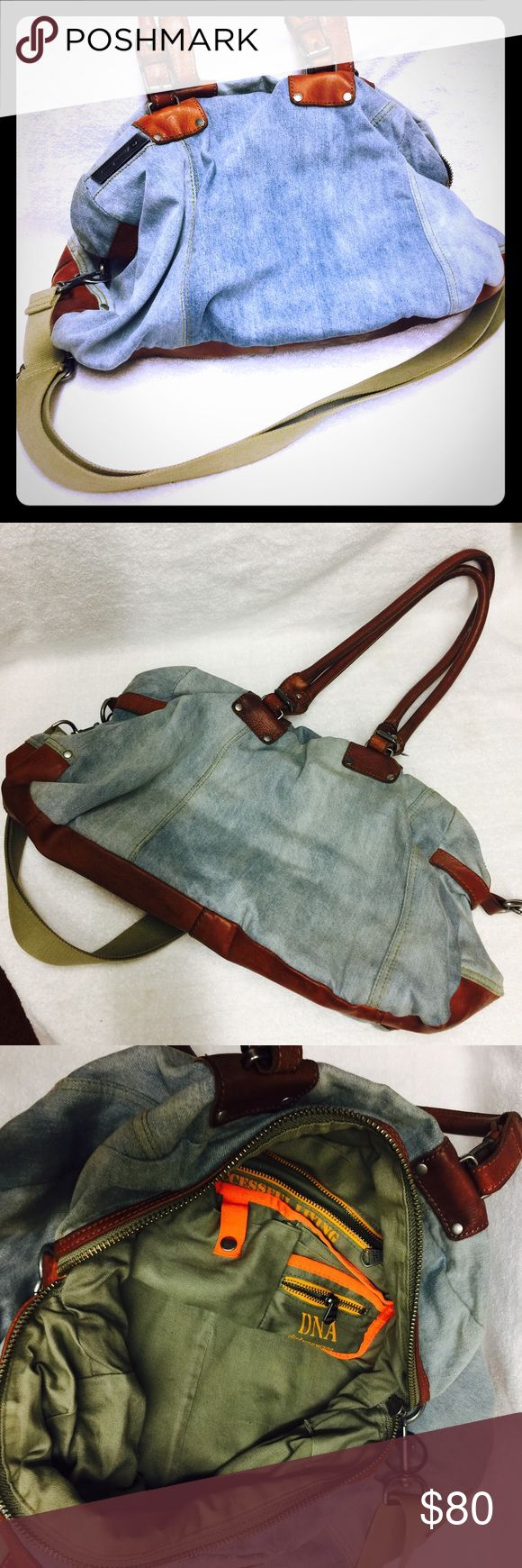 Diesel bag Pre owned diesel bag. The sign of use showed on pictures. Great condition. I'd love to answer your questions regarding to the item.  Also love to offer a discount for bundles. Feel free to just make an offer if you like it. Thanks for checking my closet, hope you'll find things you like here. Please ask all questions before actually purchasing it. I always ship safely and quickly. Diesel Bags Crossbody Bags