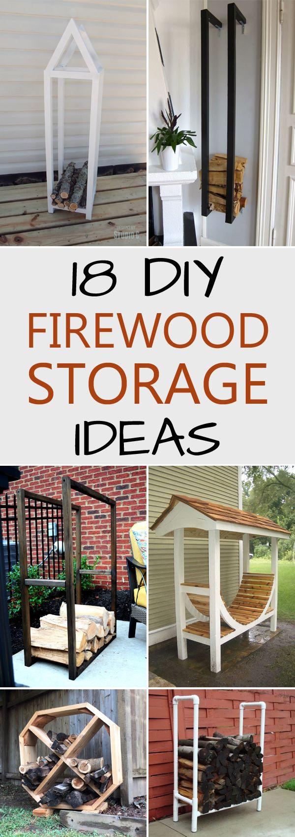 18 Best DIY Firewood Storage Ideas.
