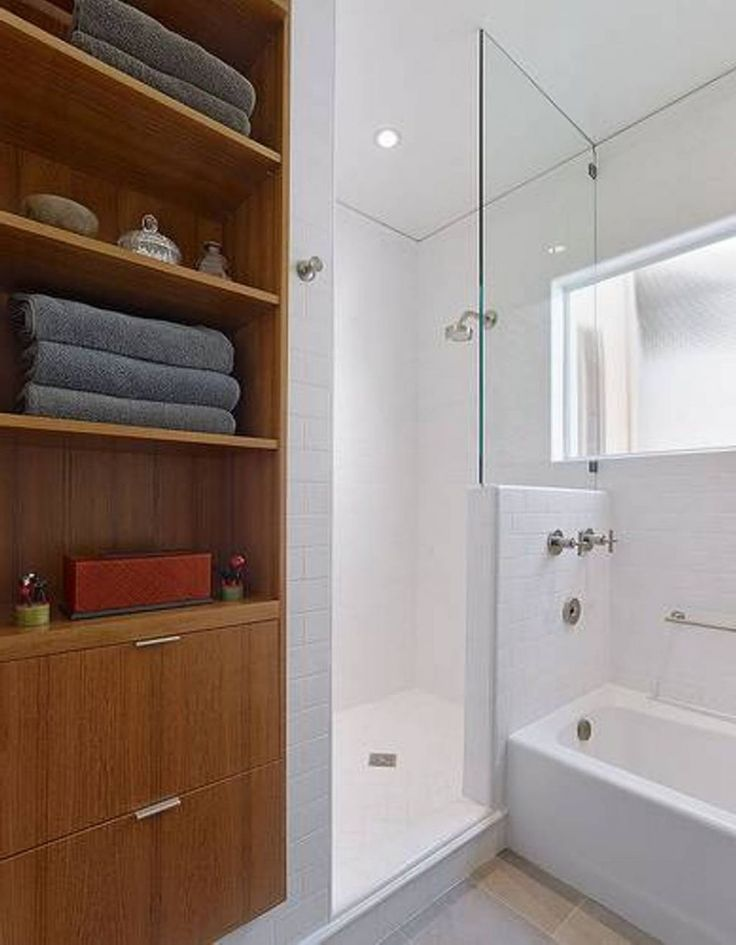 Corner Cabinet In Modern Minimalist Bathroom For The Best Space Saving
