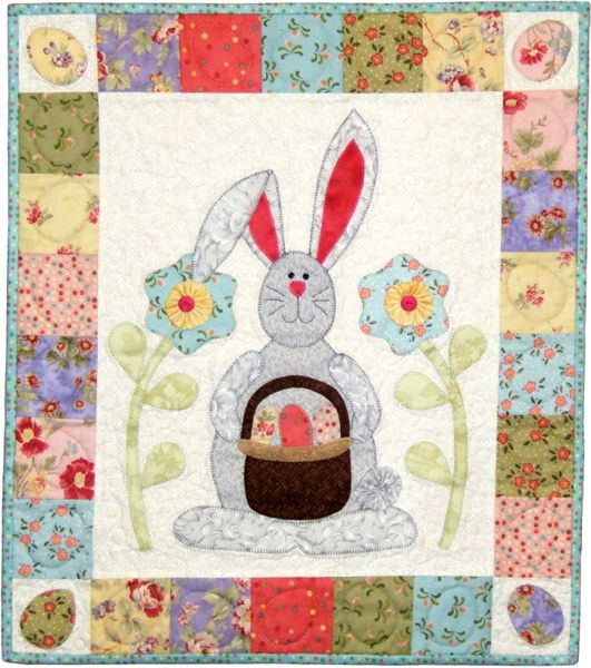 Easter bunny wall hanging quilt
