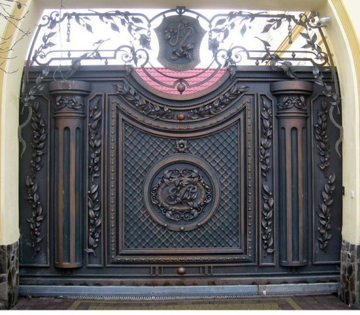Кованые ворота   Металика