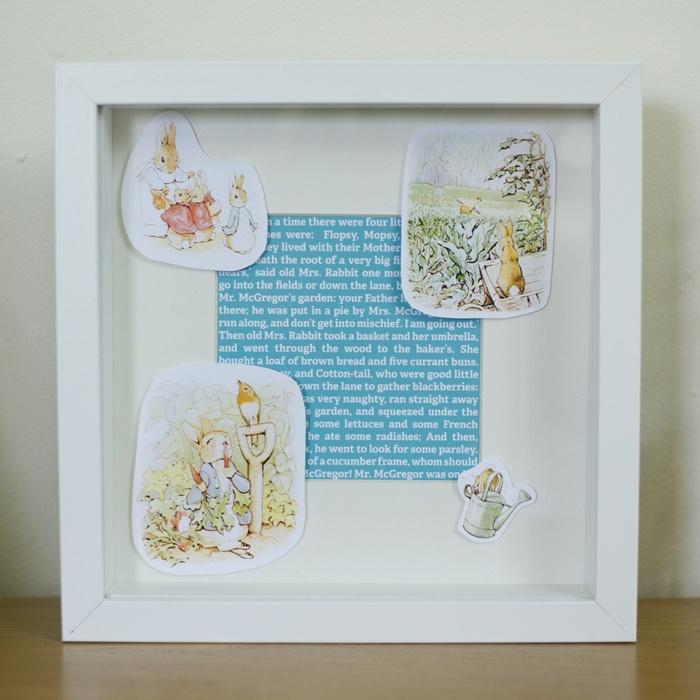 Gemaakt door mijzelf, ribba frame met peter rabbit thema