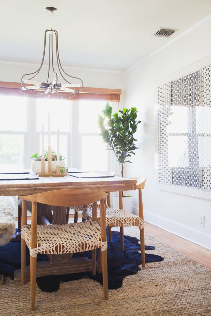 Fresh flowers add a splash of colour to this dining space from houzz - The Plants Add Soothing Color And Allmodern Dining Chairs Give The Room A Laid Back Feel Source Design By Homepolish West Coast Creative Director Orlando