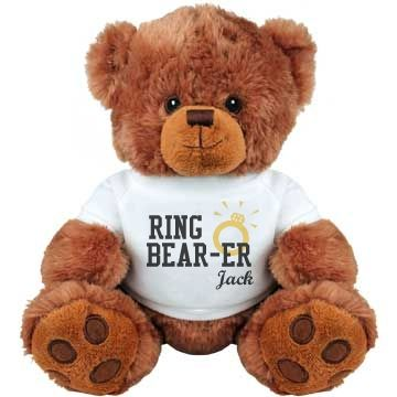Customize Ring Bear-er | Looking for the perfect gift for the little ones in your bridal party? Customize a cute teddy bear for the ring bearer and flower girl.