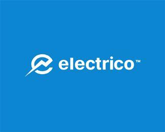 Electrico Logo Design | More logos http://blog.logoswish.com/category/logo-inspiration-gallery/ #logo #design #inspiration