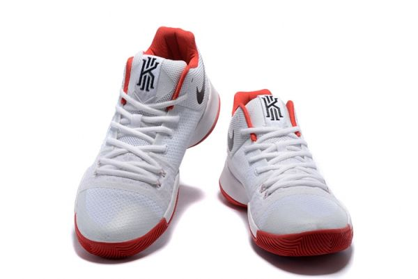 new concept e3f9f 191c6 University Red White Black Kyrie 3 III Shoes 2018