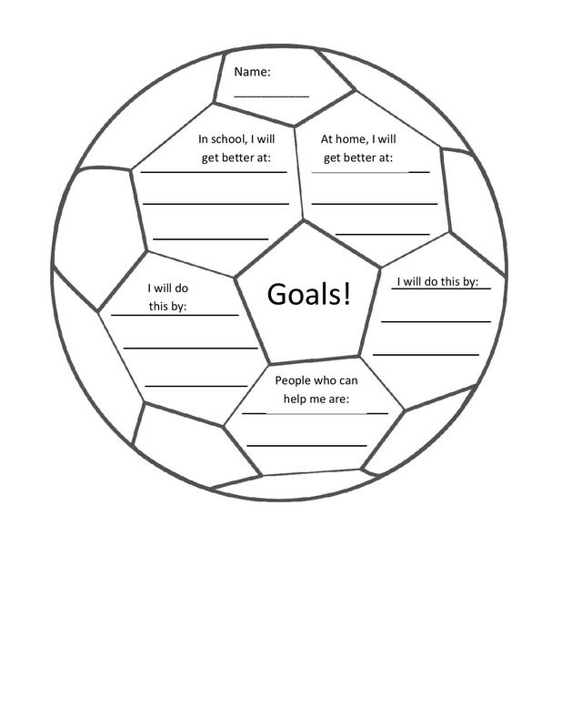 goal setting printables for students