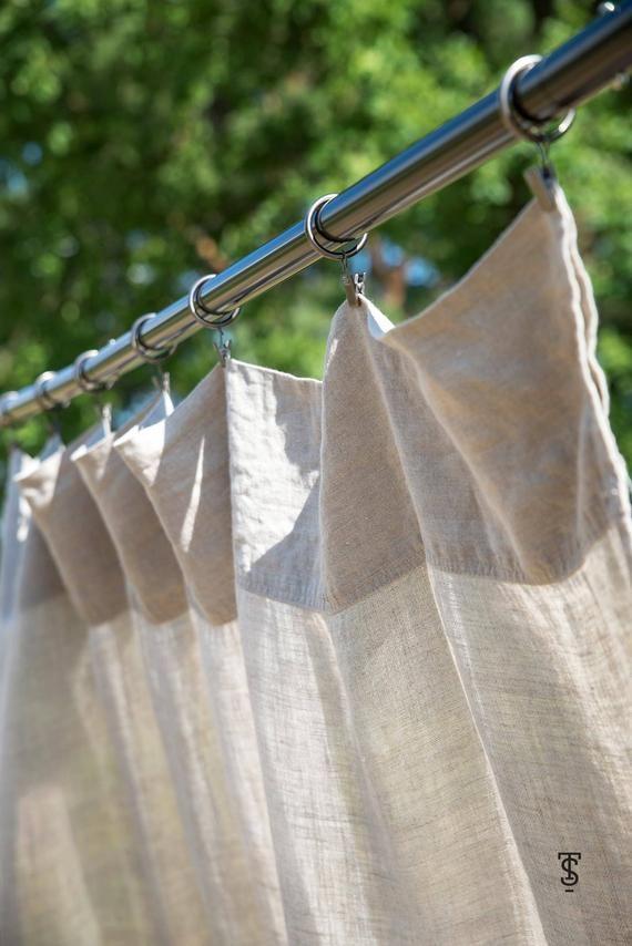 Curtain Panels Custom Curtains Linen Curtain Panels Rod Pocket