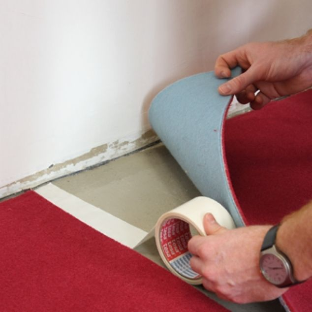 How to install carpet on concrete. DIY
