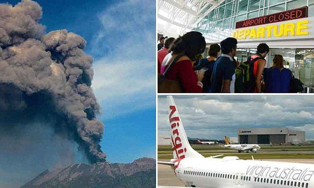 Flights to and from Bali cancelled after volcanic ash cloud returns #DailyMail