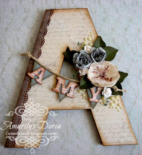 """altered letter {ScrapThat! March """"""""Within Nature"""""""" Kit}"""