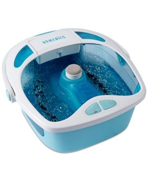 HoMedics Fb-625 Shower Bliss Heated Foot Spa - White/blue