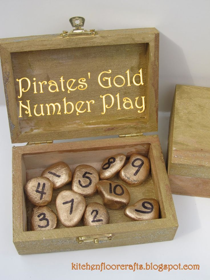 Kitchen Floor Crafts: Pirates' Gold Number Play
