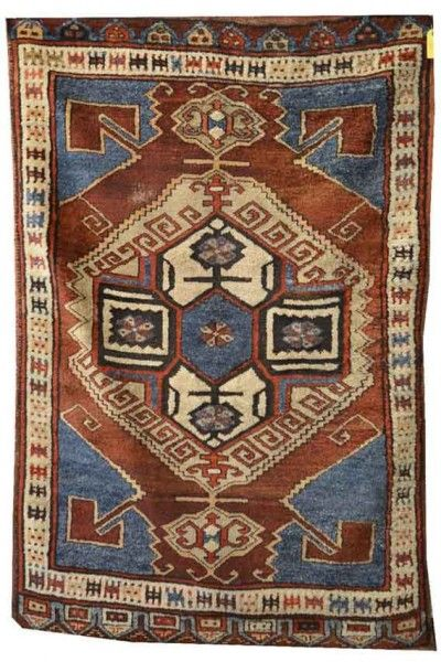 Lot 37. TURKISH VILLAGE RUG, ca. 1900 6 ft. 6 in. x 4 ft. 3 in. Oriental Rugs, Carpets, and Textiles at Grogan 3 November 2014