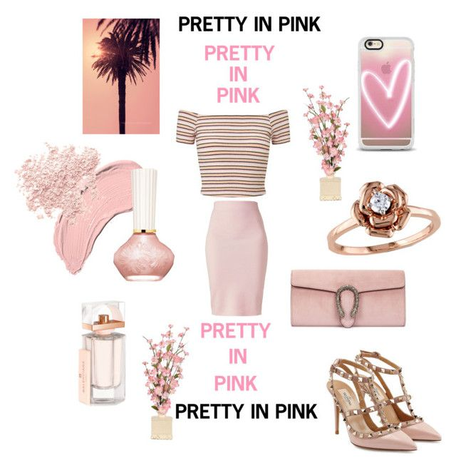 """Pretty in Pink"" by mandimwpink ❤ liked on Polyvore featuring NYX, Gucci, Casetify, Winser London, Miss Selfridge, Valentino, Paul & Joe Beaute, Balenciaga, Bare Escentuals and Amour"