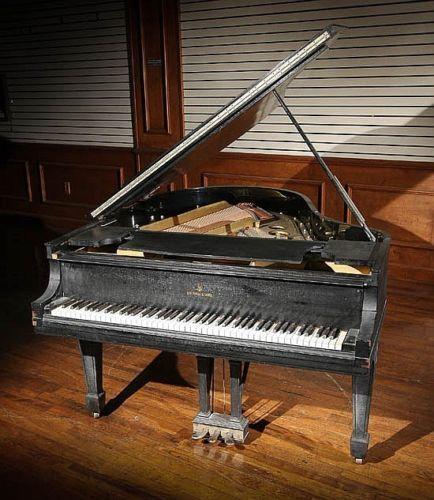 Steinway-Sons-Ebonized-Baby-Grand-Piano-Serial-No-178539-Model-O-Lot-176