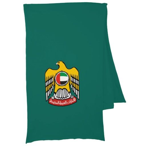Emirati coat of arms scarf wrap