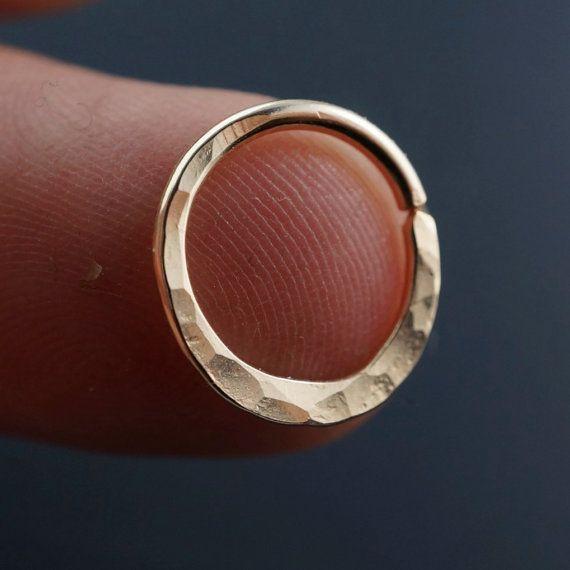 SEPTUM RING  16g  Septum Hoop  Nose Ring  von CecileStewartJewelry