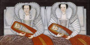 "British School, 17th Century. ""The Cholmondeley Ladies"",  c.1600–10"