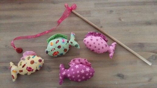 Kinder vis spel // stoffen visjes met magneet DIY