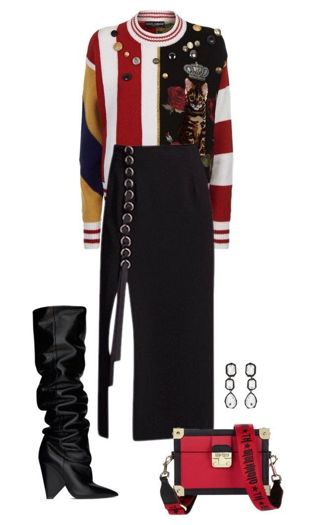 """Untitled #697"" by szudi on Polyvore featuring Dolce&Gabbana, AMBUSH, Tommy Hilfiger and Yves Saint Laurent"