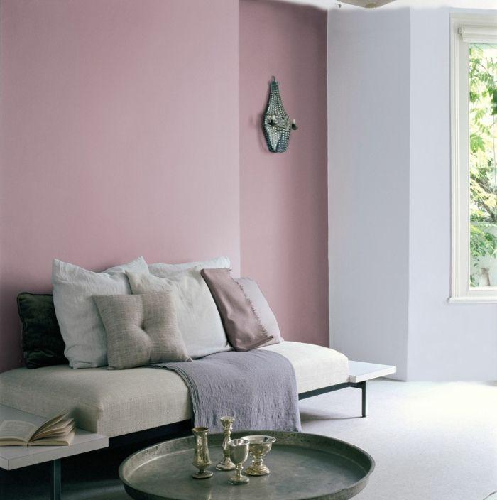 1001 Ideen Fur Altrosa Wandfarbe Zum Geniessen Altrosa Wandfarbe Wandgestaltung Kleine Raume Innenarchitektur Wohnzimmer