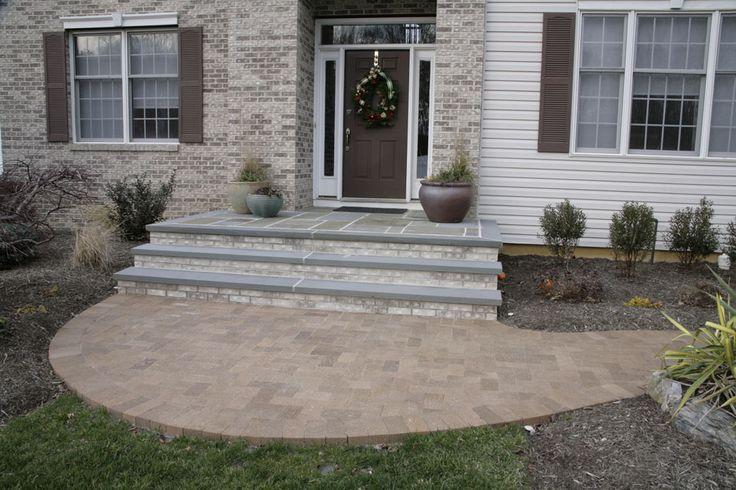 Brick And Bluestone Steps Bluestone Caps Outdoor