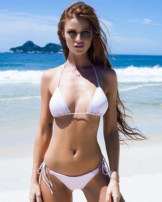 Redhead bathing suit