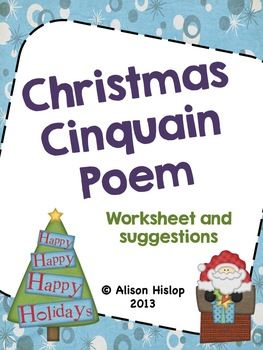 This is a quick freebie you can use heading up to Christmas. Included are:- 30 Christmas Topic Cards- Cinquain Poem rough copy worksheet- Cinquain Poem good copy worksheetChildren can choose a Christmas topic to write a cinquain poem about. Children then brainstorm and write their cinquain poem (with prompting).