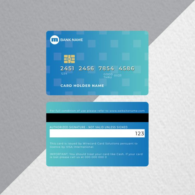 Credit Card Or Bank Card Debit Card Design Credit Card Design Bank Card