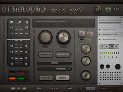 Radiopad Preview by RepixDesign. #interface