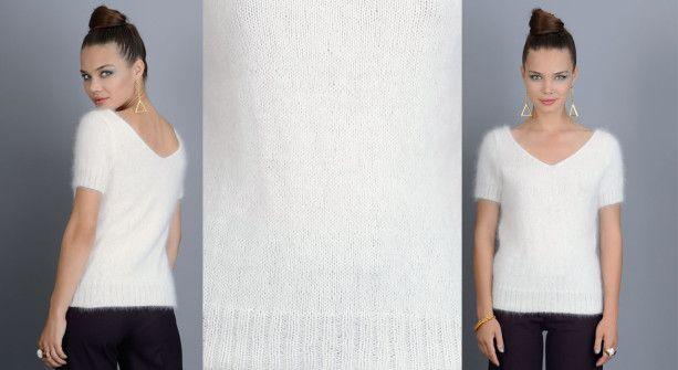 Un pull angora vaporeux à tricoter