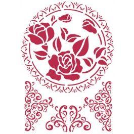 stencil pizzo con rosa