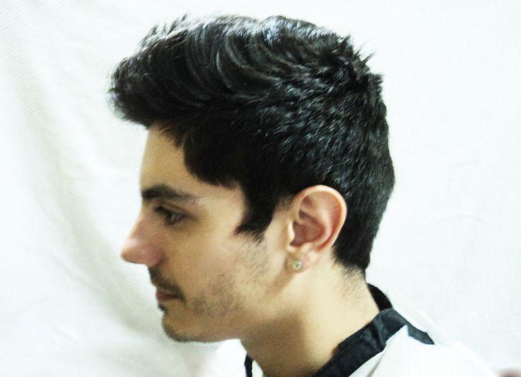 Before the cut - Left side. Modelo: Matias.