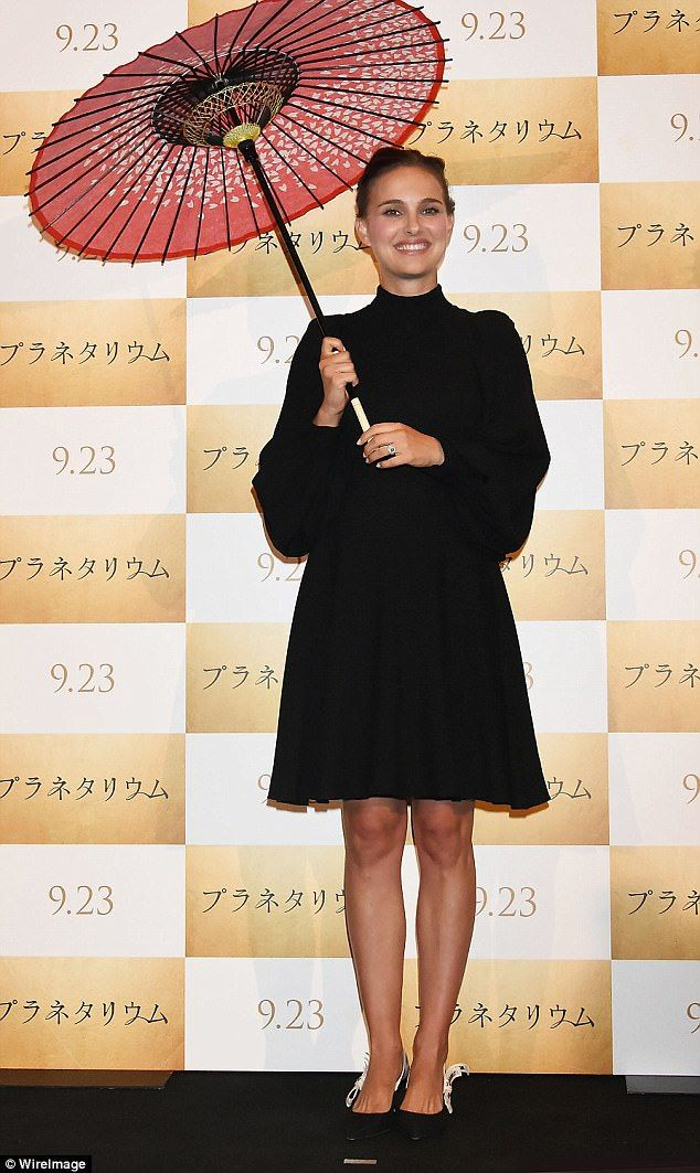Centre stage: Promotional commitments continued in earnest on Thursday as Natalie Portman attended the Japanese premiere of new film Planetarium in Tokyo
