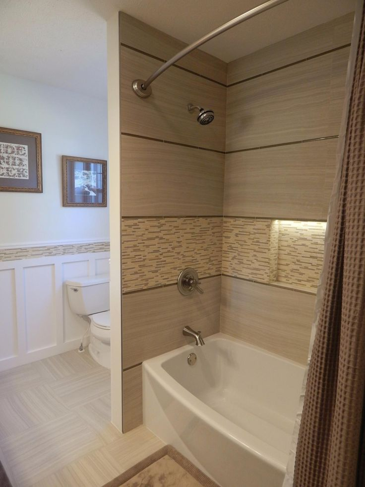 Complete Bath Renovation Traditional Elements Like Natural
