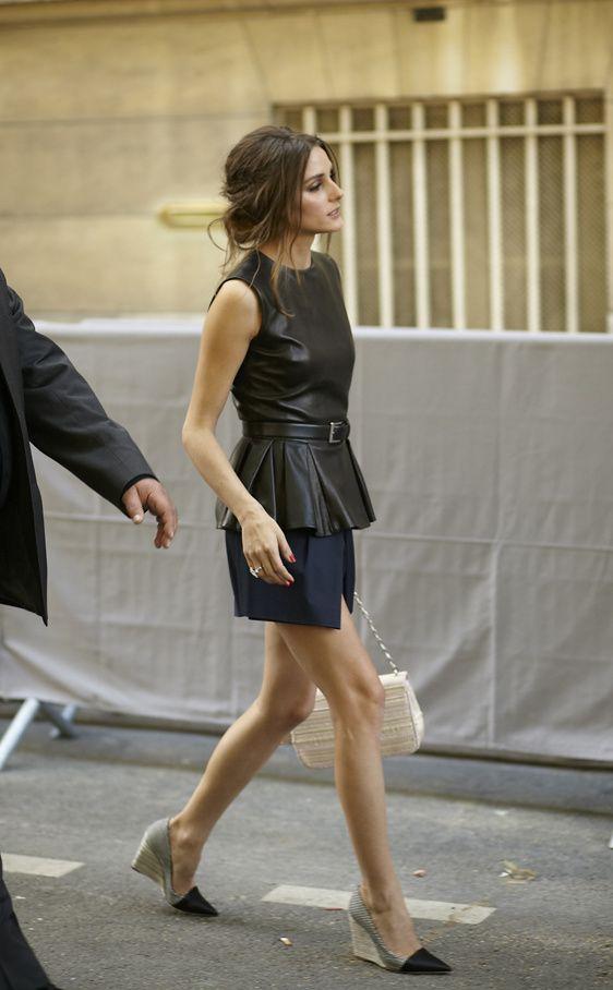 Moda en la calle desfile alta costura Christian Dior: Olivia Palermo