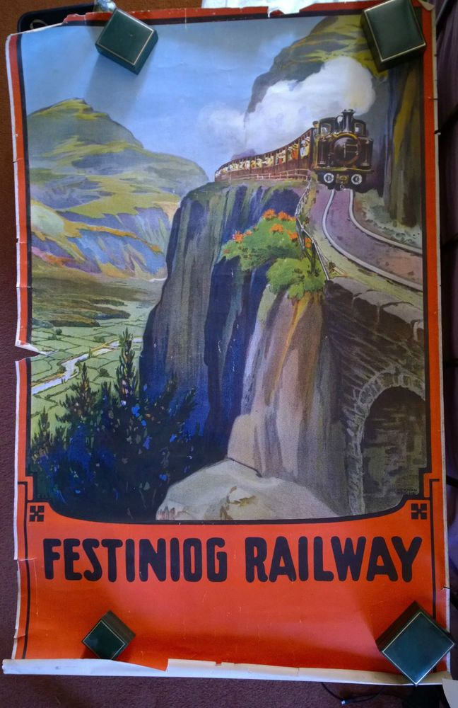 Ffestiniog Railway pre war poster original not a copy
