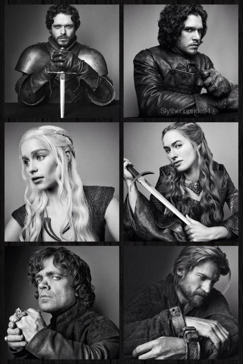 Juego de tronos... aquí están cuatro de mis personajes preferidos