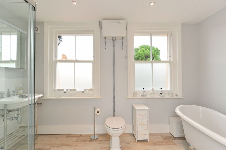 Bathroom timber sash windows manufactured and installed by The Sash Window Workshop